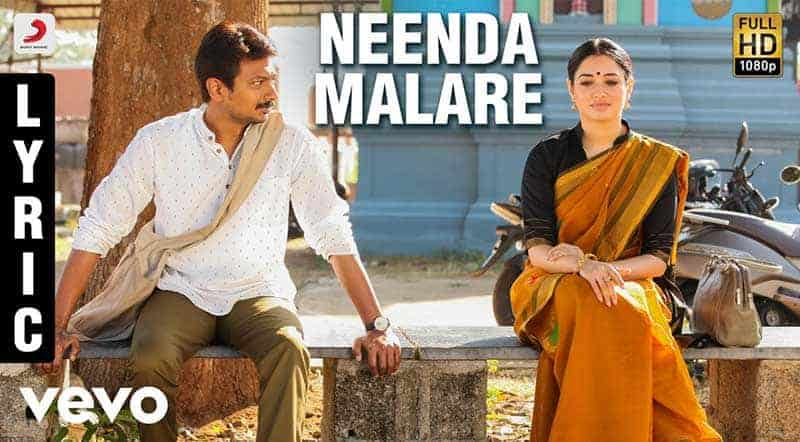Neenda Malare Song Lyrics From Kanne Kalaimaane